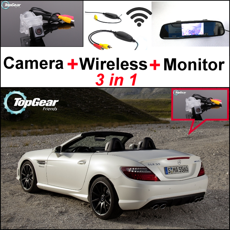 For Mercedes <font><b>Benz</b></font> <font><b>SLK</b></font> MB <font><b>R172</b></font> 3in1 Special WiFi Camera + Wireless Receiver + Mirror Screen Rear View Back Up Parking System image