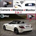 Para Mercedes Benz MB SLK R172 3in1 Wi-fi Câmera Especial + Receptor sem fio + Tela Espelho Retrovisor Back Up Sistema de Estacionamento