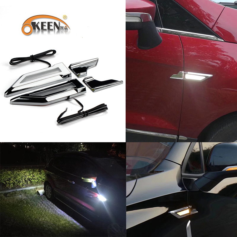 OKEEN Universal Daytime running lights turning signal lamp for BMW F10 F20 F30 E70 E71 X5 X6 X3 car fender side door reversing projector lamp dt00821 for hitachi cp x3 x3w x5 x5w x6 600xh 100