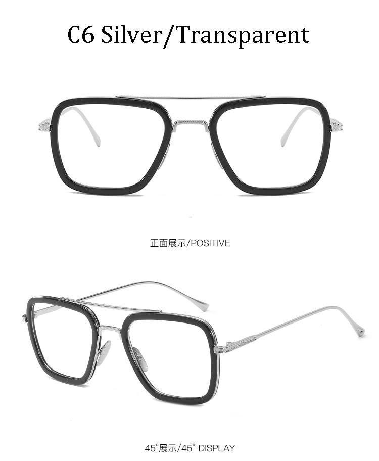 luxury Fashion Avengers Tony Stark Style for women Sunglasses Men Square Brand Design Sun Glasses Oculos Retro male iron Man 10