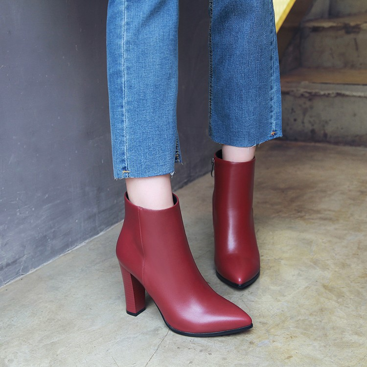 ankle boots for women spring/autumn boots women fashion super high heels shoes woman solid big size 43 winter boots &6721-1 hot sale big size 32 44 fashion spring autumn women shoes sexy solid pu leather platform ankle strap high heels augz 958