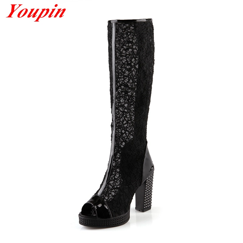 Hollow chelsea boots 2015 Simple wild New pumps shoes Sweet gauze fashion shoes Pierced sexy pumps