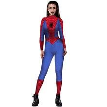 PLstar Cosmos Women Girls Cosplay apparel Spiderman 3D Printing Spandex Lycra Zentai Bodysuit Suit Jumpsuits