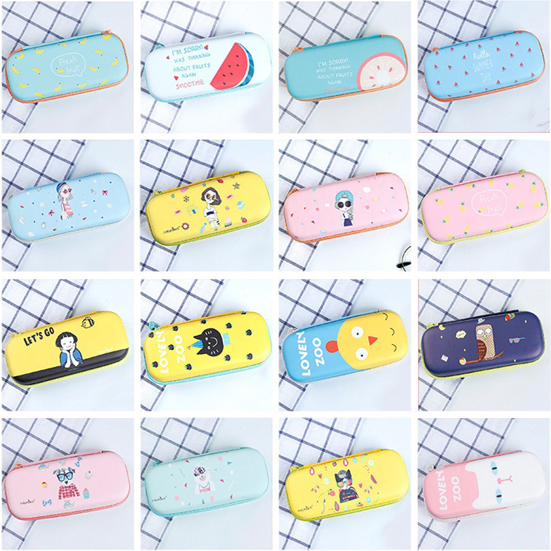 Kawaii Cartoon Pencil Case Large Capacity Pen Pencil Bag Pouch School Supply Cosmetic Makeup Bag cartoon pencil pen case gravity falls totoro dragon ball zelda adventure time cosmetic makeup coin pouch zipper bag
