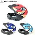 3 в 1 Fullface Детский велосипедный шлем детские велосипедные шлемы Акула велосипедный шлем с козырьком съемный Casco Cclismo самокат BMX