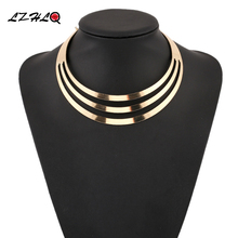 LZHLQ рок уличный металлический полый панк воротник, колье, женское ожерелье, новинка, индивидуальный стиль, колье для женщин