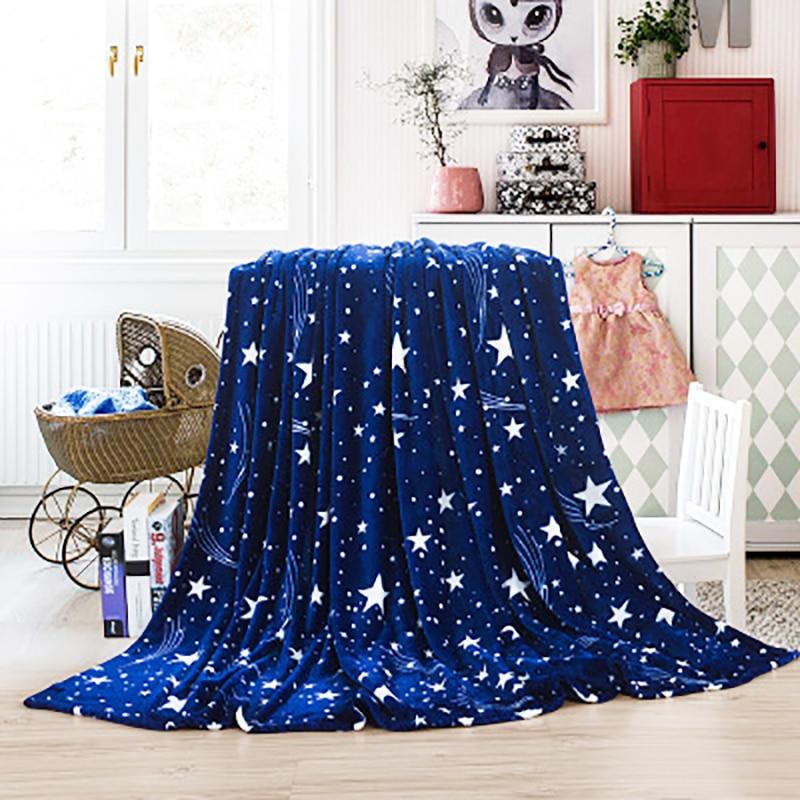 2018 heißer Verkauf! Dreamworld Star Flannel Blanket Helle Sterne - Haustextilien - Foto 3