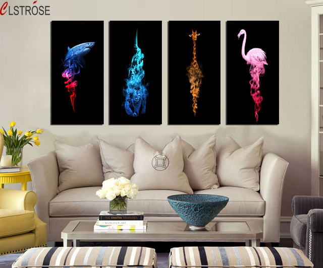 Peacock Inspired Living Room Table And Chairs Clstrose New Modern Abstract Painting Decorate Sofa Home Decor Red Crowned Crane Animal Art Wall Pictures In Calligraphy