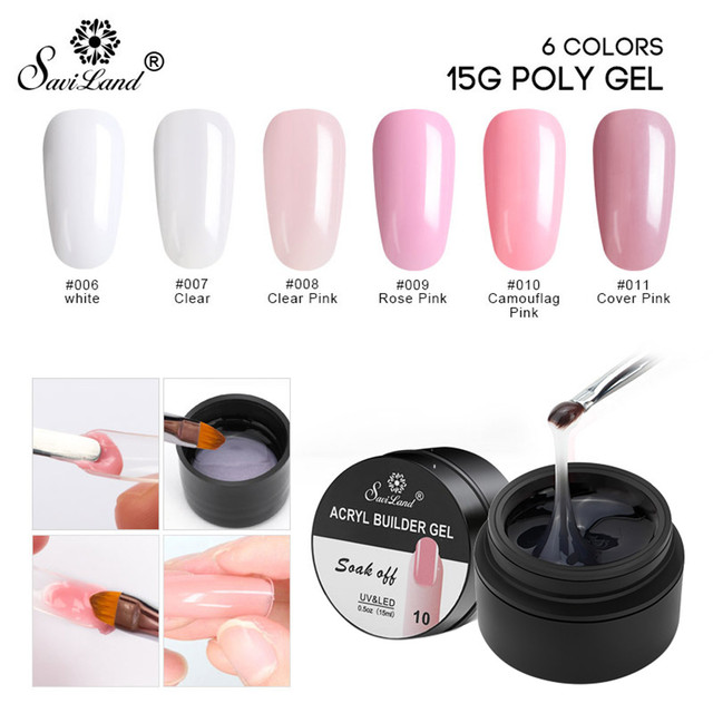 1pc Nail Gel Tips Extension Camouflage Builder Lack Glue Off White Lakiery Hybrydowe
