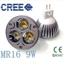 4X High power CREE E27 3x3W 9W 220V Dimmable Light lamp Bulb LED Downlight Led Warm/Pure/Cool White free shipping