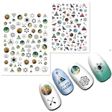 Newest CA-476 47 colorful design 3d nail manicure back glue decal decorations for stickers