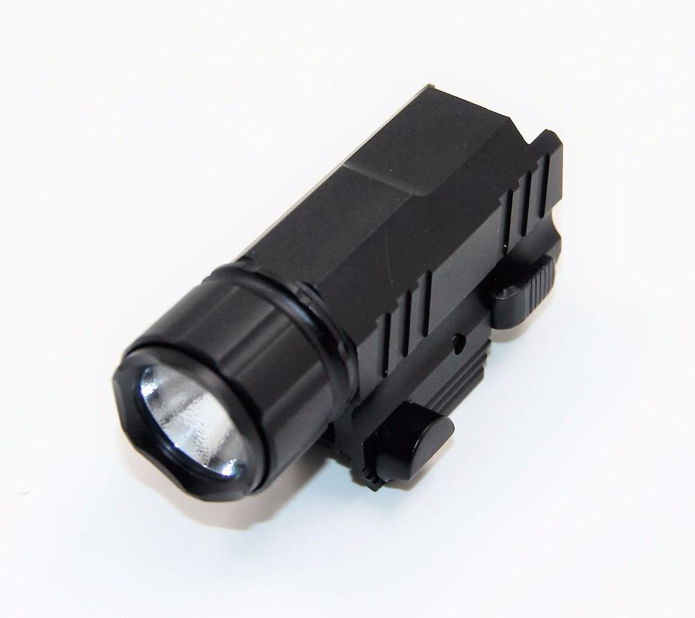 200 Lumens Hunting Optics Tactical LED Flashlight Rifle Gun Gear With Green Laser Head Replaceable Flashlight Combo Sight