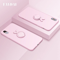 FAYDAI For IPhone X Case Original Silicone Cases Luxury Cute Soft TPU Case For IPhone X