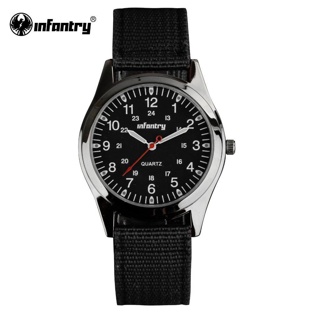 INFANTRY Watch Relogio Military Army Watches Round Face Ultra Thin Nylon Fabric Watch for Men 24