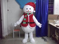 Snowman Mascot Costumes Unisex Cartoon Christmas Mascot Outfit Suit Carnival Fancy Costume