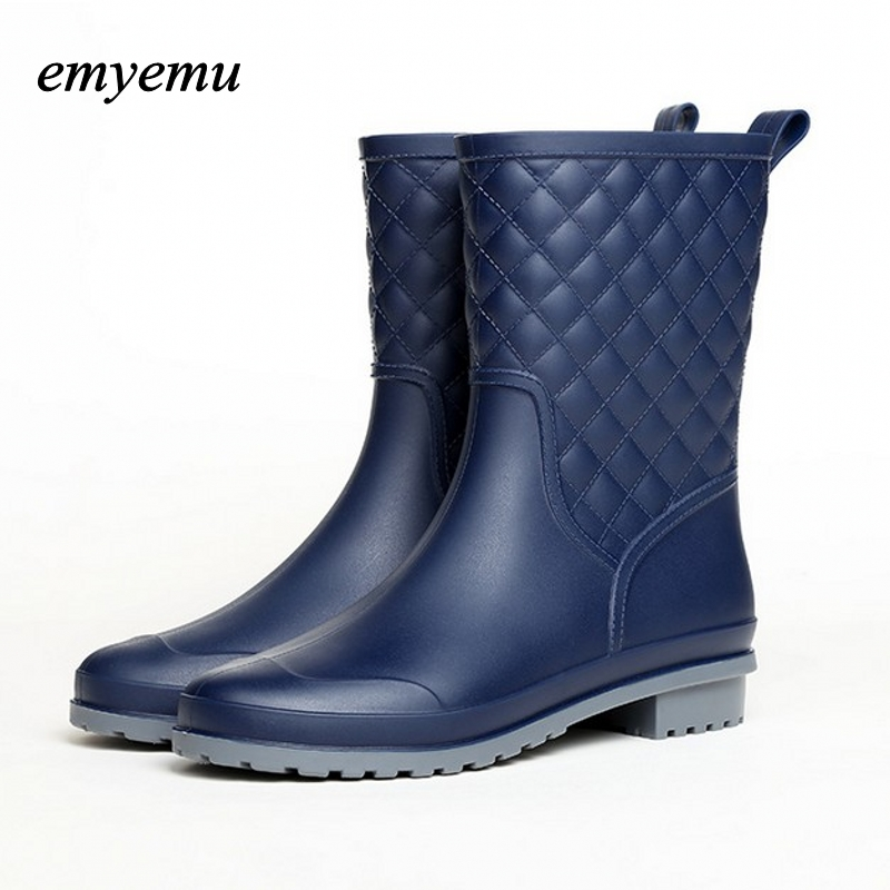 Spring Autumn Women rainboots New Fashion Rain Ankle 3color Rubber Boots Shoes Waterproof rian boots free shipping fashion madam featherweight rubber boots rainboots gumboots waterproof fishing rain boots motorcycle boots