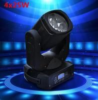 LEVOU Feixe de Super 4x25 W LEVOU em movimento feixe cabeça efeito de luz para Bar levou iluminação de palco|beam light|led movingsuper beam -