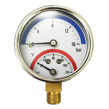 16 Bar Temperature Pressure Gauge  G1/4 Thread