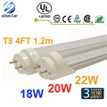 30pcs 4ft 1200mm T8 Led Tube Light High Super Bright 18W 20W 22W Warm Cold White Led Fluorescent Bulbs AC110-240V FCC