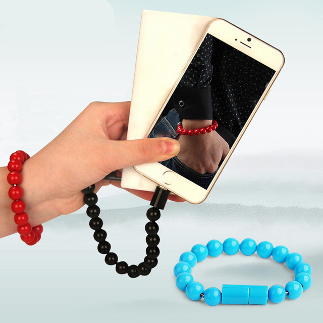 Universal Micro USB Cable Beads Bracelet Charging Sync Data Cable Cord