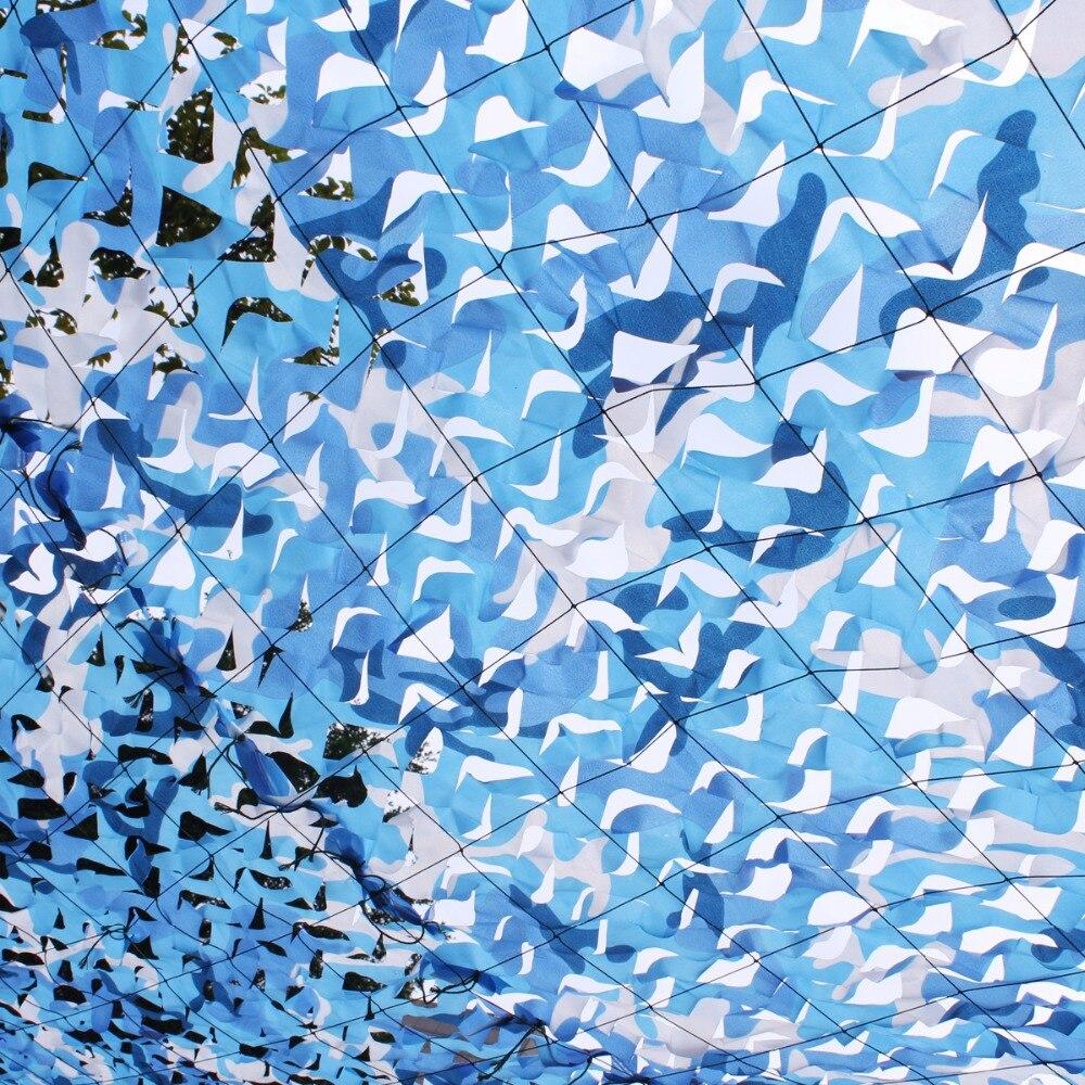 3.5M*5M filet Camo Netting blue camouflage netting for house decoration gazebo decoration balcony tent pergolas decoration