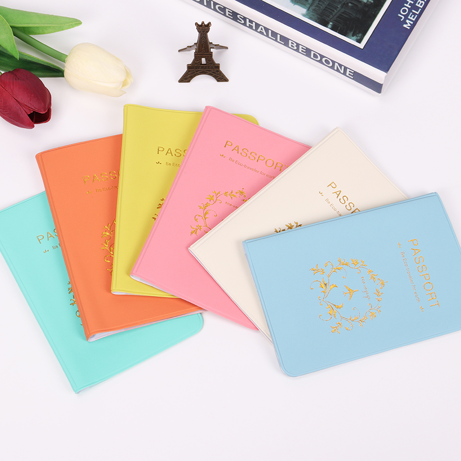 Bag Card-Holder Documents Passport-Cover Travel New Fashion Brand PU