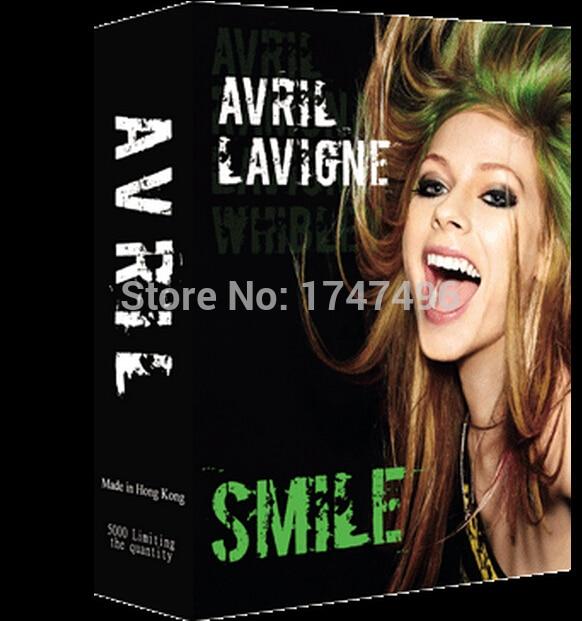 54pcs/set collective pop rock star singer Avril Lavigne poker card game celebrity playing cards novelty presents