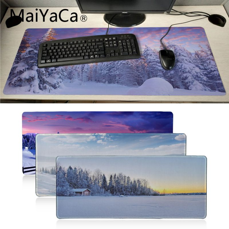 Gaming Mouse pad Small Blue Mousepads for Laptops Made in The USA Mouse Pads for Computer Mouse Pad Rubber Mousepad