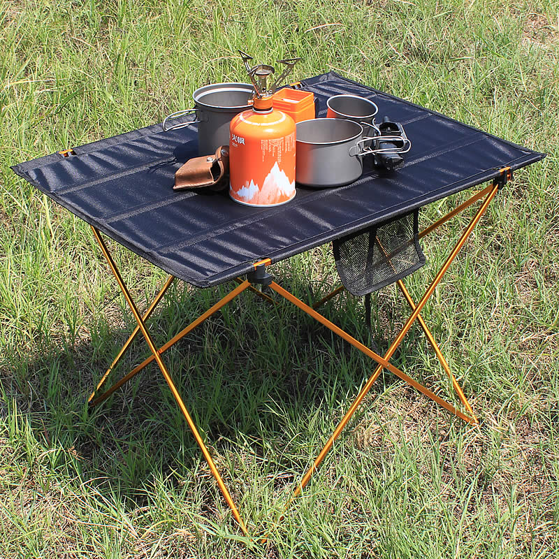 Aluminum Alloy Folding Camp Table Lightweight Camping Outdoor Hiking Picnic Table