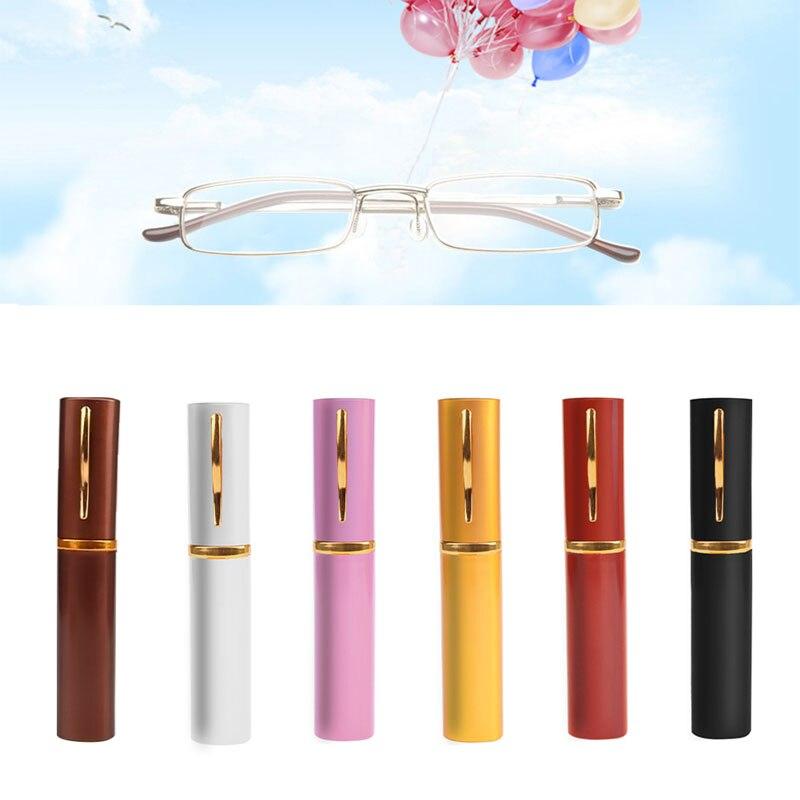 2017 Leesbril Kleuren Unisex Metalen Met Buis Case + 1.5 + 2.0 + 2.5 + 3.0 3.5 + 4.0 Nieuwe Mar16_15