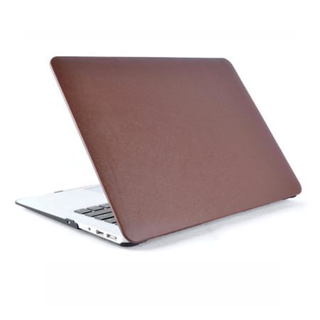 Newest Fasion PU Leather Rubberized Hybrid Hard Case Laptop Shell Cover For Macbook Air 11