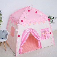 Kids indoor and outdoor castle tent baby princess game house boy girl oversized folding for kids gifts