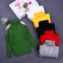 2016 Kids Baby Boys Sweaters Children Autumn Winter Spring Sweater knitting topsTurtleneck pullover cardigan sweater for girls