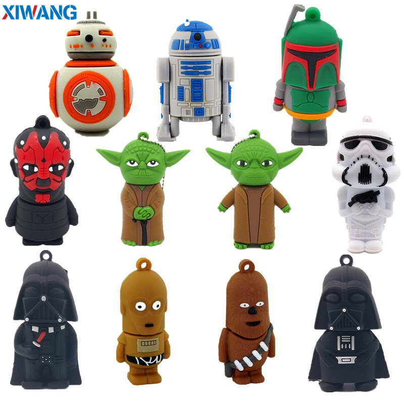 XIWANG USB Flash Memory Stick 64GB Pen drive Cartoon Star wars darth vader 128GB 32GB 16GB 8GB4GB Pendrive 100% USB Flash Drive-in USB Flash Drives from Computer & Office