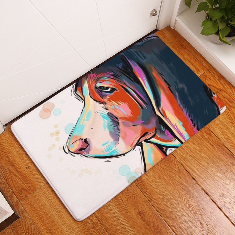 Xinwcanga Peinture Magnifique de Style Moderne dimpression Chien Anti-d/érapant Tapis de Sol Paillasson Chien#1, Taille: 40 * 60cm