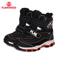 FLAMINGO 2016 new collection winter fashion snow boots with wool quality anti-slip kids shoes for boy W6YC001