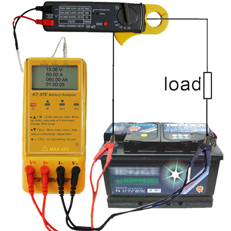 KT-97E Full Function Battery Analyzer Resistance Suitable For Car Batteries Emergency Lighting Automatic Sprinkler Systems