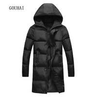 2016 New Men Winter Hooded Long Jackets Mens Warm Coats Plus Size S XXXL 4XL 5XL