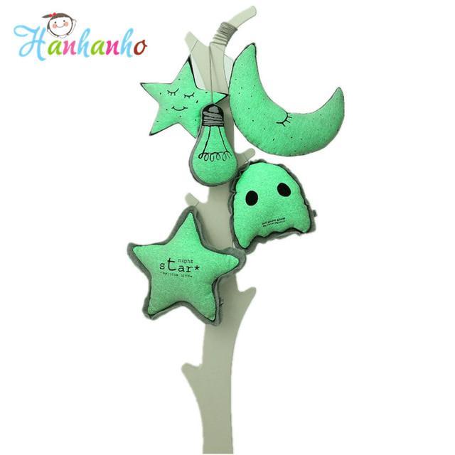 Bombilla Luna Estrella Cojín Almohada Kawaii Brillan En La Oscuridad Juguetes Cuna Decoración Cojín Muñecas Regalos Para Los Niños