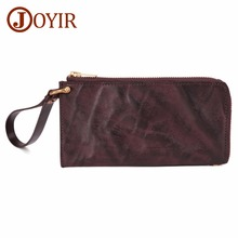 купить JOYIR Genuine Leather Men Wallet Card Holder Male Purses Phone Bag Long Design Clutch Wallets Carteira Masculina Men Clutch Bag по цене 1582.59 рублей