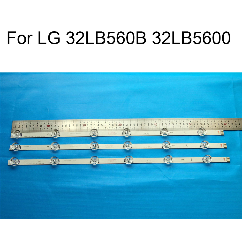 Brand New LED Backlight Strip For LG 32LB5600 32LB560B 32 inchs TV Repair LED Backlight Strips Bars A B Strip With Thermal Tape in Shell Body Parts from Consumer Electronics