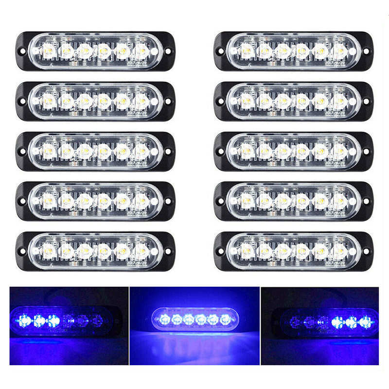 Image 5 - 10X Car Truck 6LED Strobe Light Flash Hazard Beacon Safety Warning Blue Lamp 18W-in Truck Light System from Automobiles & Motorcycles