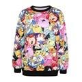 """Camiseta """"Adventure Time"""" para mujer, camisa de manga larga con estampado en 3d  y cuello en O para primavera y otoño,  ropa de mujer Adventure Time 007"""