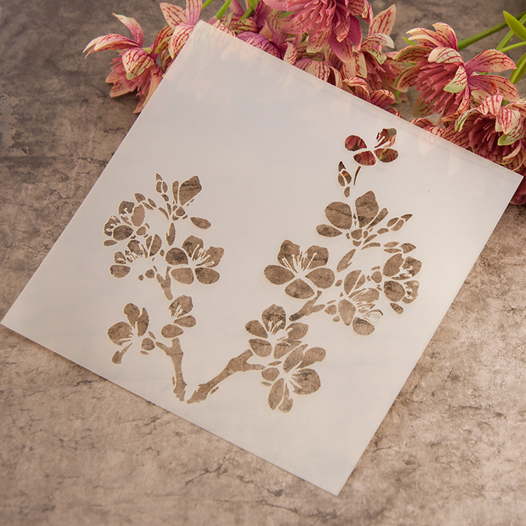 Buy scrapbooking plastic painting drawing for Wall spray painting designs