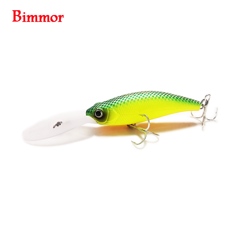 Bimmor Floating Deep Diving Crankbait Fishing Lures 11.5g 115mm Lifelike Wobbler With 6# Owner Hooks Peche Isca Artificial