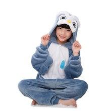 EOICIOI New Flannel Kids Pajamas Animal Unicorn Stitch Pikachu Cosplay Onesies Children Sleepwear For Boys Girls Pyjamas Hooded