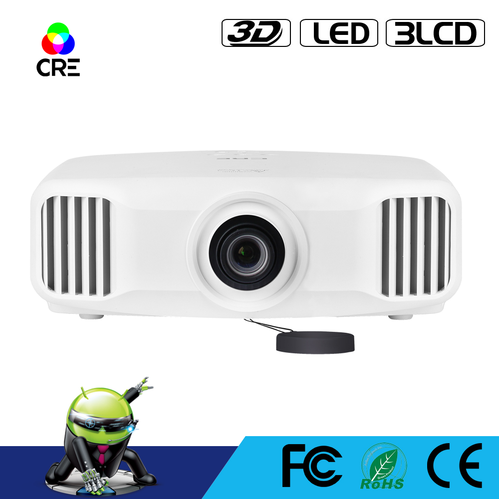 High Quality CRE X8000 Full HD 1920 1200p 3LCD 3D LED WiFi Home Projector support 4K