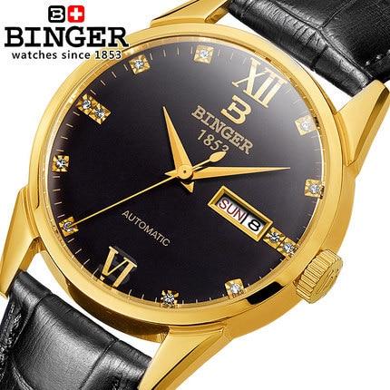 Здесь можно купить   2017 New Binger Watches Luxury Brand Leather Strap Watch for Men Ultra-thin Crystal Analog Military Watch Waterproof Wristwatch Часы