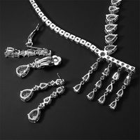 2018 New Bride Necklace Earrings Set Wedding Bridal Party Jewelry Set Dress Up Trendy Fashion Wild