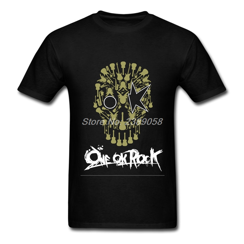 T black shirt rock - One Ok Rock Men T Shirt Short Sleeve Vintage Rock Band Tshirt Clothing Luxury Men T